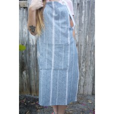 Blue and White Striped Apron