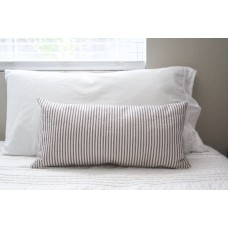 Blue & Cream Ticking Stripe Lumbar Style Pillow Cover
