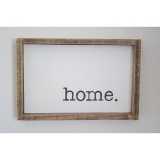 """Rustic Wooden """"Home"""" Sign"""