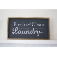 Fresh & Clean Laundry Co. Wooden Sign