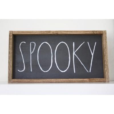"Rae Dunn Inspired Halloween Sign ""SPOOKY"""