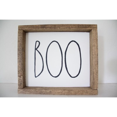 "Rae Dunn Inspired Halloween Sign ""BOO"""